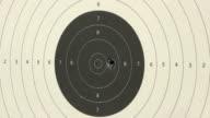 Shooting handgun pistol at target range. video