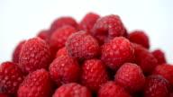 Shooting of raspberry. video