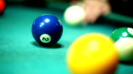 Shooting pool. video