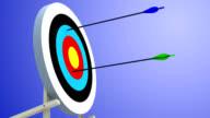 Shooting range: arrows hitting the target video