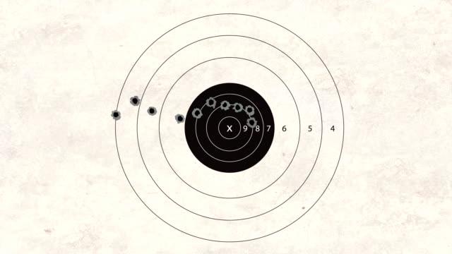 shooting target automatic gun video