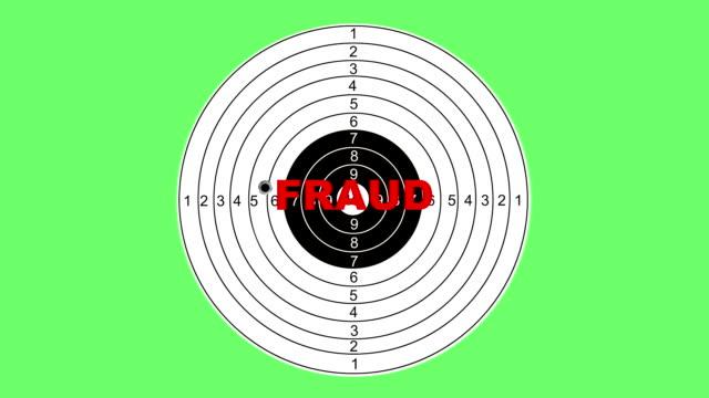 Shooting target with word fraud video