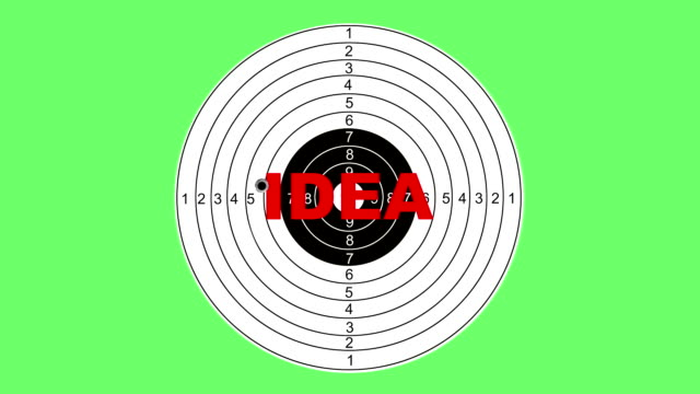 Shooting target with word idea video