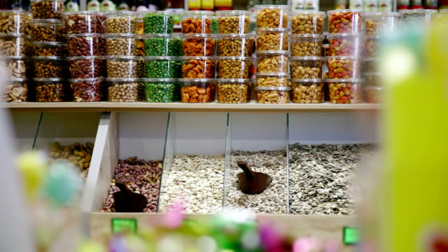 Shop with nuts, seeds and dried fruits video