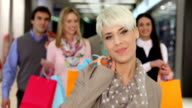 Shopper with shopping bags video