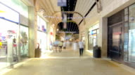 Shoppers and tourists at Mamilla shopping street timelapse hyperlapse in Jerusalem video