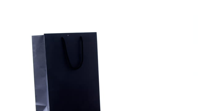 Shopping bag on white background video