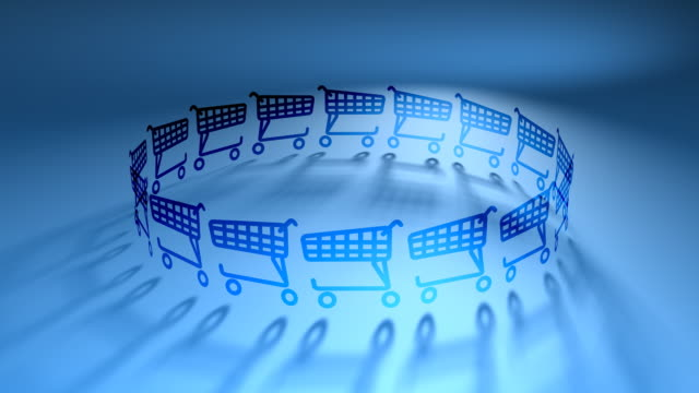 Shopping Carts in Circle video