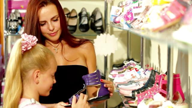 Shopping in Shoe Store video