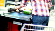Shopping in supermarket. video