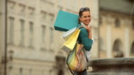 HD SLOW-MOTION: Shopping In The City video