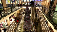 Shopping Mall at Christmas Time video
