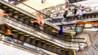 Shopping Mall Escalator TIMELAPSE video