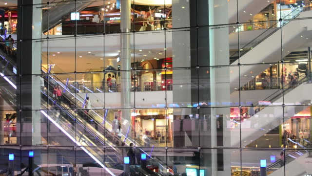 Shopping Mall Escalator video