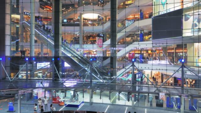 Shopping Mall Escalator,Real time video