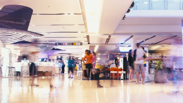 shopping mall interior time lapse video