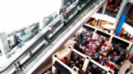 Shopping Mall Long Escalator video