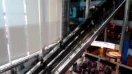 Shopping Mall Long Escalator video