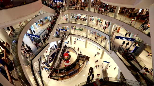 Shopping Mall, slow motion video