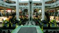 Shopping Mall Timelapse Escalator People video