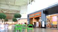 Shopping mall timelapse video