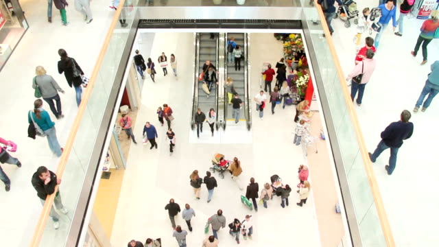 Shopping people video
