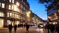 4K Shopping street in London video