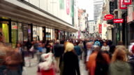 Shopping street - Time Lapse video
