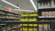 HD Shopping with Cart Time Lapse video