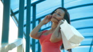 Shopping Woman On The Phone video