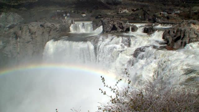 Shoshone Falls Idaho - Wide Panning Shot_004 video