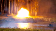 Shot from 2S25 self-propelled anti-tank gun 'Sprut-SD' video
