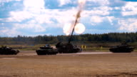 Shot from 2S35 'Coalition-SV' - Russian 152mm self-propelled howitzer video