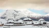 T/L 8K shot of a cloudscape over famous herdsmen's cottages video