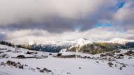 T/L 8K shot of a cloudscape over Velika Planina Slovenia video