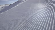 TS shot of a perfectly groomed ski track video