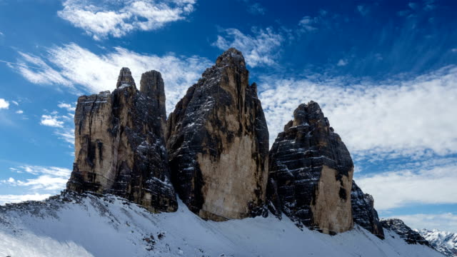 T/L 4K: Shot of Clouds Forming Over the Tre Cime video