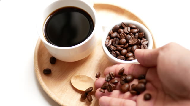 Shot of coffee beans video