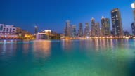 T/L 8K shot of Dubai at night video