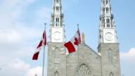 Shot of Ottawa Notre DameCathedral video