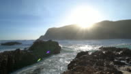 Shot of rough sea at Knysna heads, South Africa video