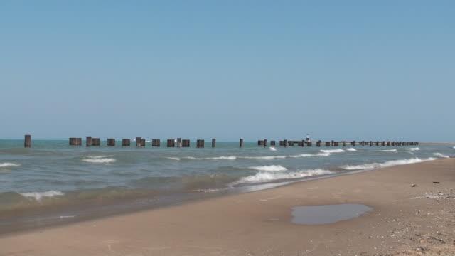 Shot of the beach Michigan Lake video