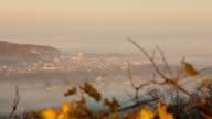T/L 8K shot of town Ljutomer in fog video