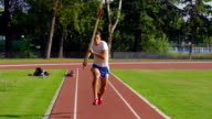 HD Shot of Young Adult Man at Pole Vaulting video