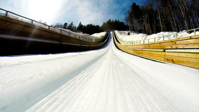 HD: Shot of Young Man at Ski Jumping video