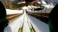 HD: Shot of Young Man at Ski Jumping video