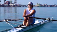 HD: Shot of Young Women Rowing video