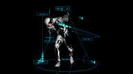 3D shot put man with technical data video