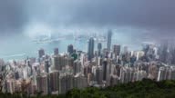 3 Shot T/L Time Lapse of Hong Kong skyline Victoria Peak. video