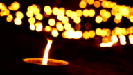 2 Shots Candle with Bokeh Background video